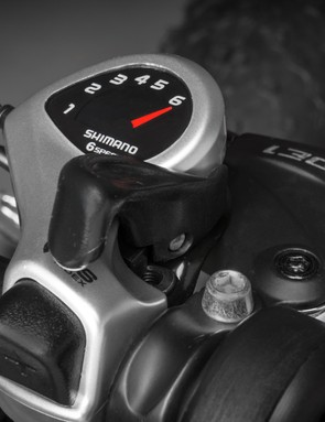 There's six-speed Shimano Tourney gearing throughout