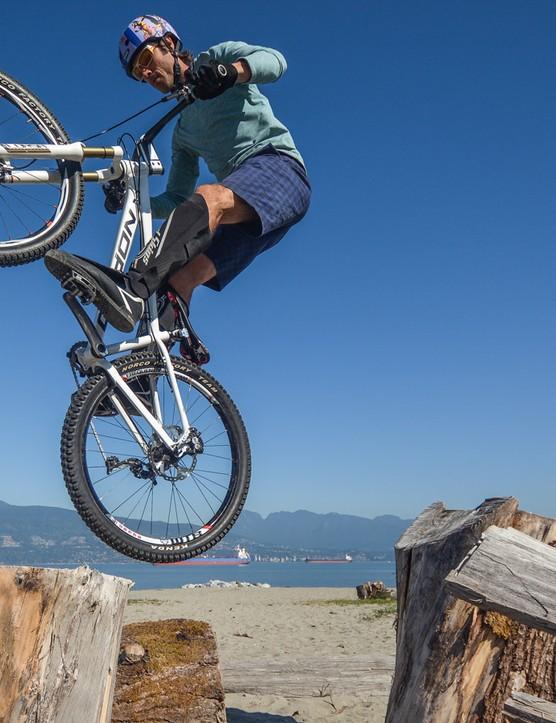 Leech has been in numerous mountain bike movies