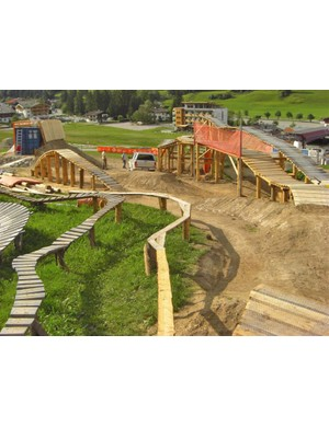 New trail at Leogang bike park