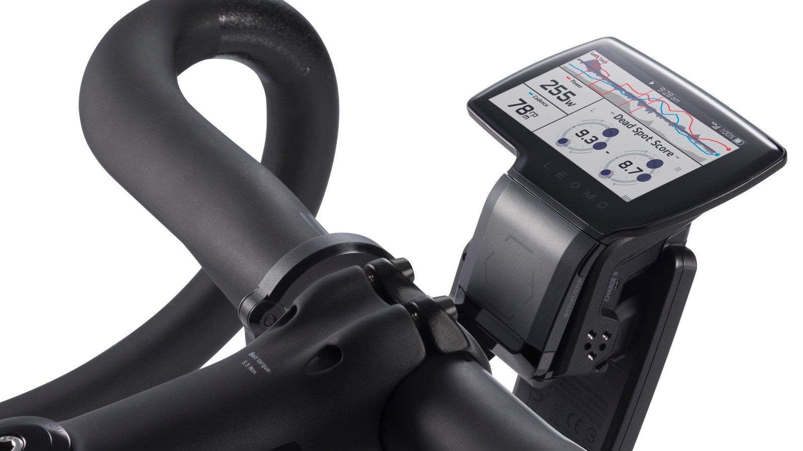 The GPS / ANT+ head unit talks to your existing measurement tools like power meters and heart rate straps