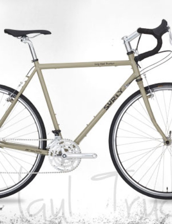 Surly's Long Haul Trucker is a popular expedition touring bike