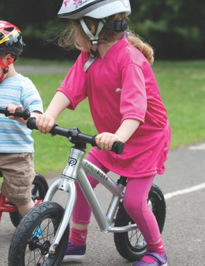 Once your kid has the hang of 'gliding', adding pedals, brakes and gears becomes much easier