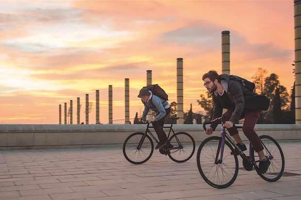 Dusk settles on Barcelona's Olympic Park