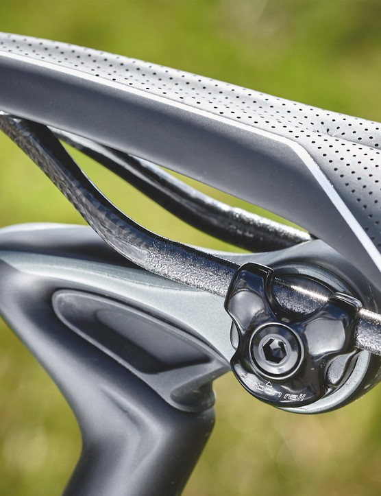 S-Works Phenom saddle offers a smooth and catch-free shape