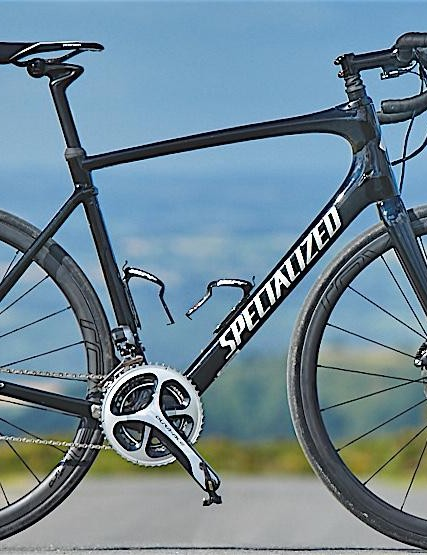 The 2017 Specialized Roubaix has cartridge front suspension for added comfort on the bumps