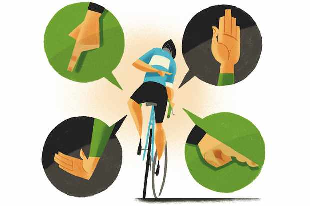 Be clear when riding in groups