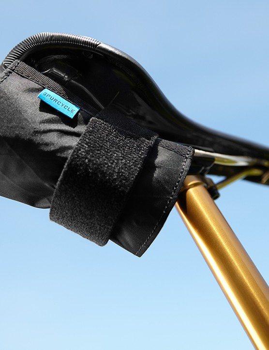 The new Spurcycle saddle bag is dropper post compatible
