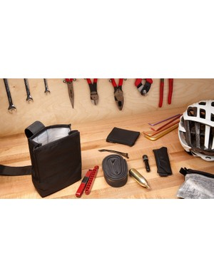 The bag will fit all the tools and spares you need for your ride