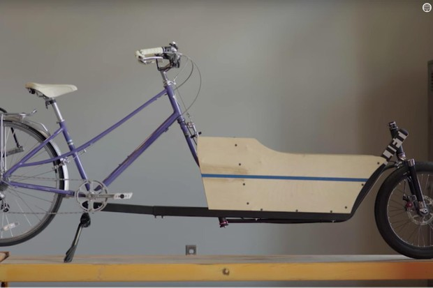 The LIFT cargo kit can turn many standard bicycles into a cargo carrier in less than a minute