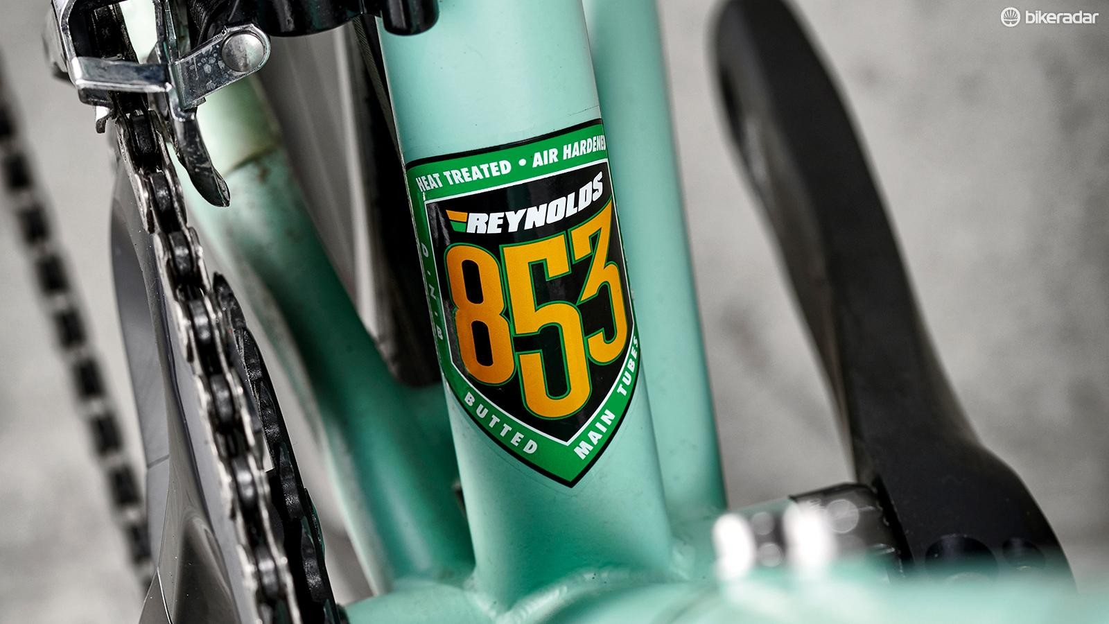 Air-hardened and heat-treated Reynolds 853 steel makes for a strong frame