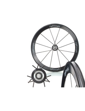 Lightweight's products, including this Obermayer III tubular wheel, are now available from Wiggle