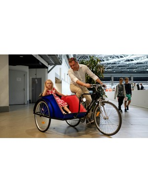 LikeBike's indoor test facility proved a success with riders of all ages