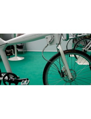 …the cable can then be used to secure the bike in an urban environment, neat!