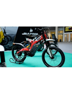 Spanish motorcycle firm Bultaco had its full-throttle electric-assist mountain bike on show, the Brinco