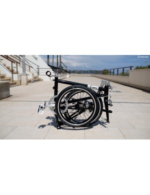 The Ahooga doesn't quite fold down to the size of a Brompton but it's a lot lighter in comparison and is priced competitively at €1,269