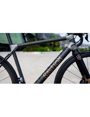 Matte carbon fibre meets bead-blasted titanium