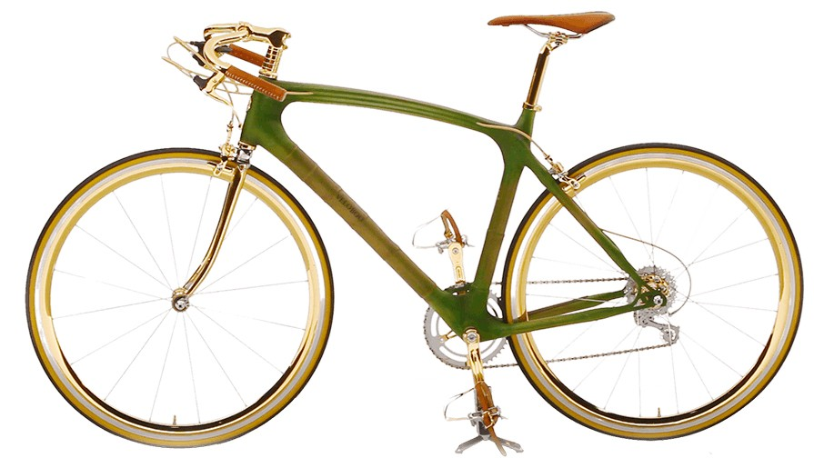 The Gold from Veloboo uses a mix of bamboo and gold in its construction