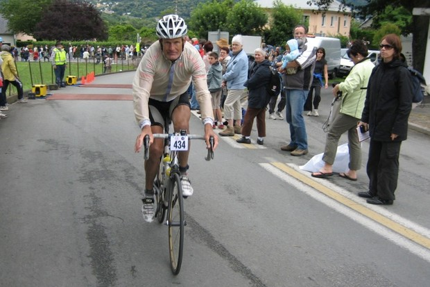 BikeRadar diarist Lindsay Crawford in the 2008 L'Etape du Tour July 6.