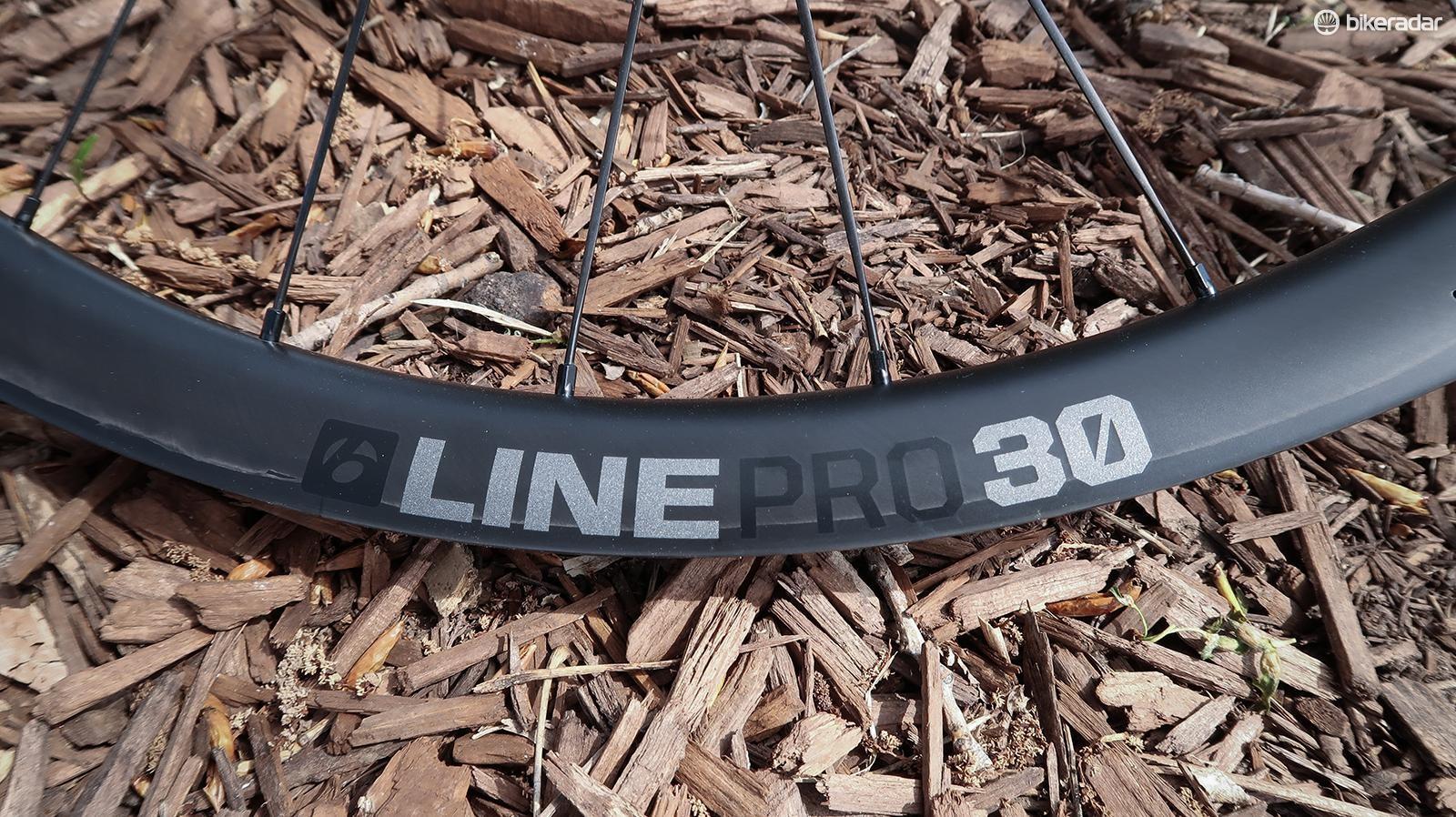 The Bontrager Line Pro 30 wheelset