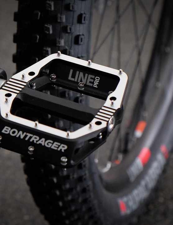 The Line Pro pedals were developed with input from Trek's C3 freeride and slopestyle athletes