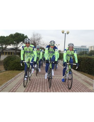 Team Liquigas, ready to roll in 2008.