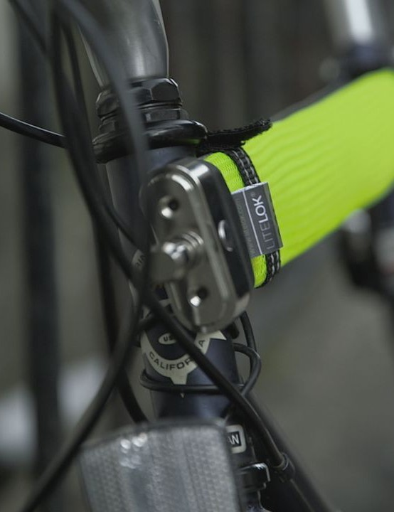 It's flexible and can be stretched along your top tube