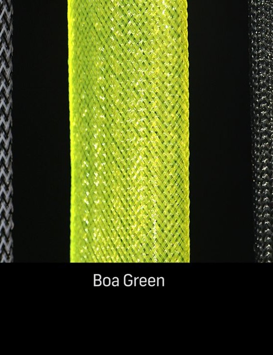 The Litelok is available in Boa Green, Crow Black and Herringbone (black and white)