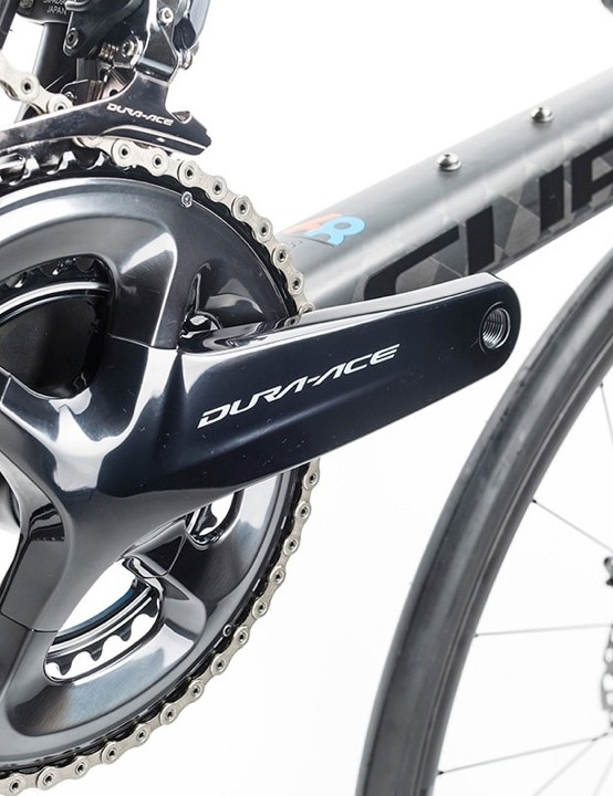 The new Shimano Dura-Ace groupset gets these more muscular-looking cranks
