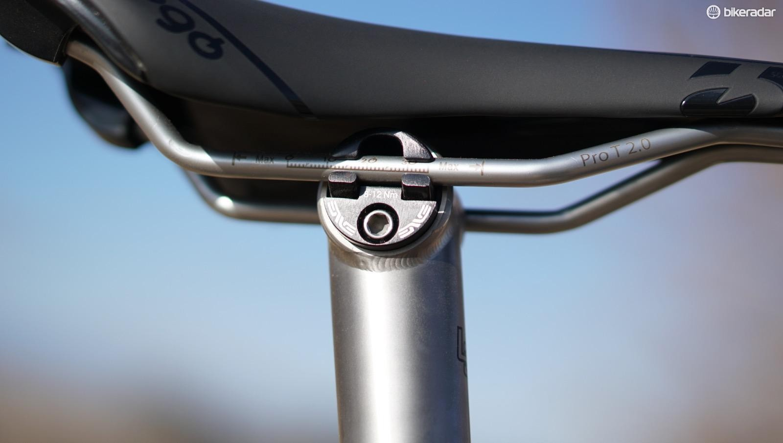 I winced when I saw the 31.6 straight seatpost, thinking it would be harsh. Then I rode it, and was immediately reminded of titanium's forgiving nature