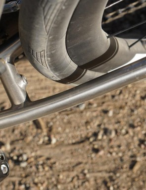 Titanium flexes more than alloy or carbon. Riding dirt, I loved the feel. It doesn't accelerate like a ProTour race bike, though