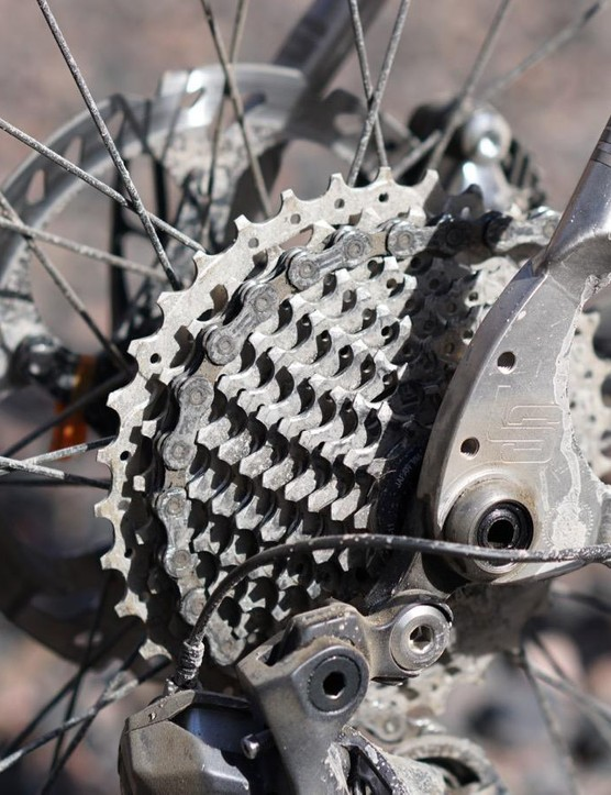 Paired with a 50/34 crank, the 11-32t cassette makes molehills of mountains. Or, at least, it makes it easier to get up steep hills