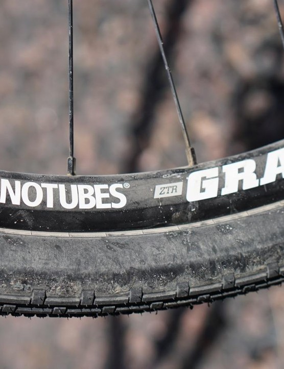 I used Stan's XTR Grail wheels for the gravel configuration