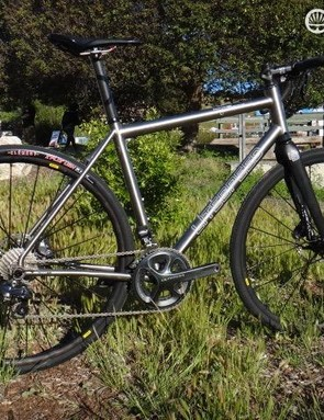 Litespeed recently updated its T5 Gravel bike with Flat Mount brakes and clever removable cable guides on the head tube. The titanium frame sells with Litespeed's own carbon fork for $2,600