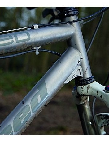 Light titanium frame sports neat recessed gussets