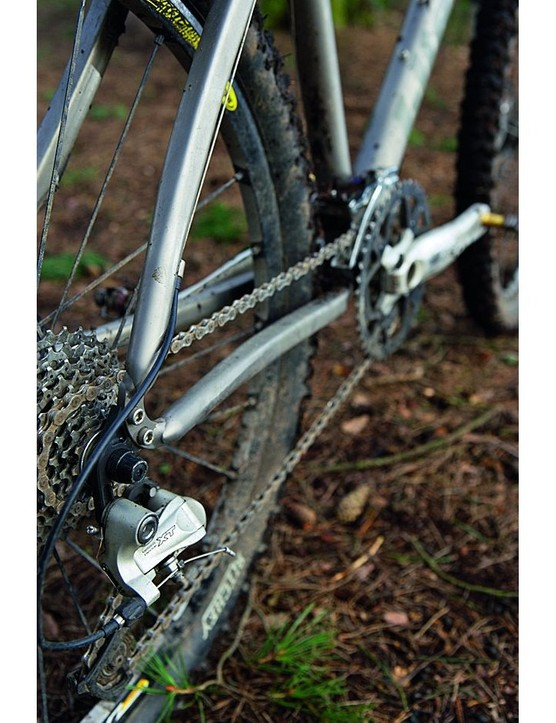 You can unbolt the dropouts to swap between geared or singlespeed transmission
