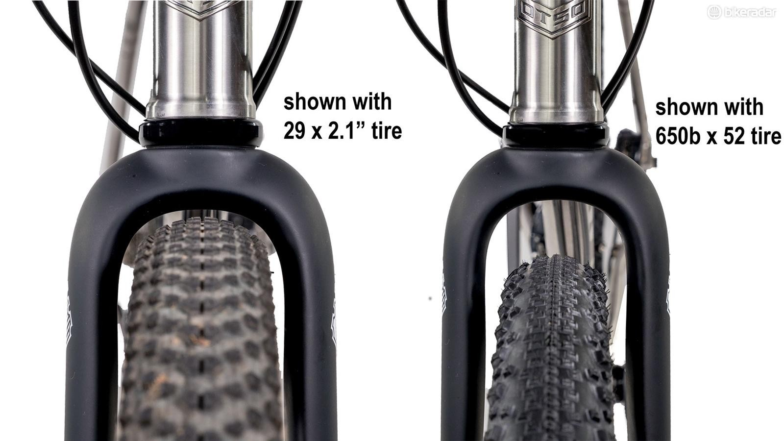 The Hiili has massive tire clearance for today's gravel bikes