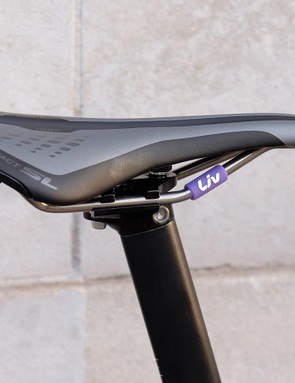 A women's specific Liv saddle is designed to suit an aggressive, racy body position