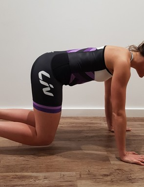 The bear crawl hold will help improve your strength