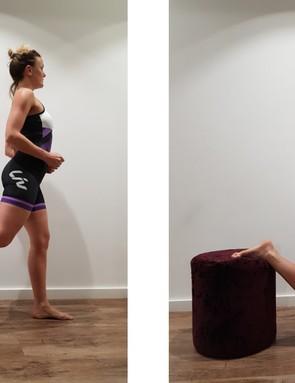 The Bulgarian squat helps those hip flexors
