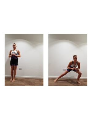 The lateral lunge helps those muscles not used in forward momentum