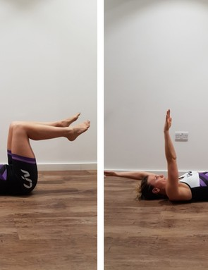 Exercises like 'dead bugs' are great for building core strength