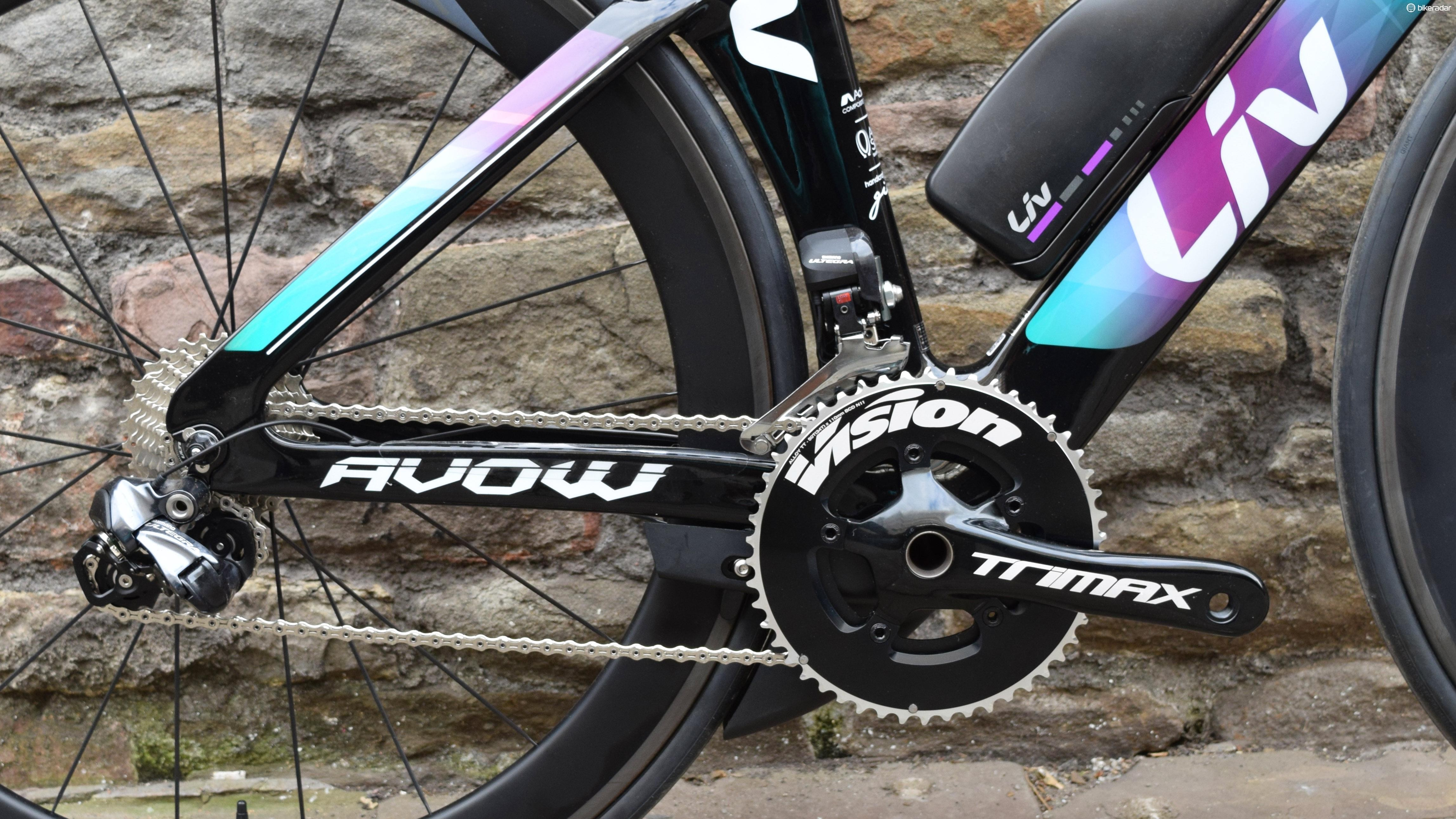 Gearing comes courtesy of Shimano Ultegra Di2, with an FSA Vision TRIMAX crankset