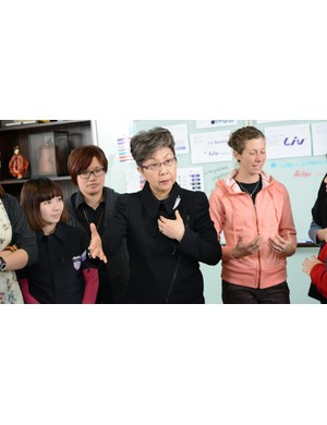 Bonnie Tu (centre), chair of Giant Global Group, founded Liv Cycling in 2008