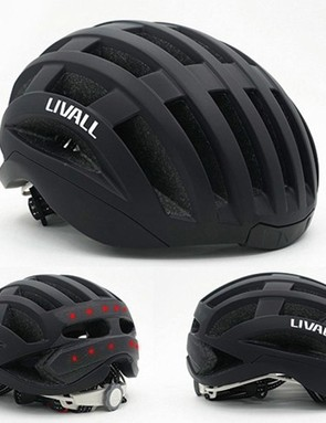 Livall's road helmet has a built-in heart rate monitor, stereo speakers, lights, microphone, and gyroscope