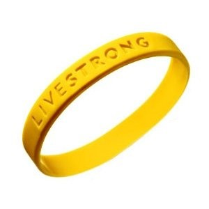 The ever-present Livestrong yellow wristband.