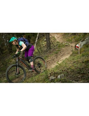 Plus-sized tyres provided sufficient traction on technical descents, though getting the right pressure was tricky