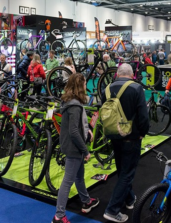 The show's floor is packed with bikes and equipment from over 300 top brands