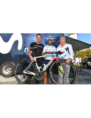 Alejandro Valverde's World Championship winning Canyon CF SLX will be on display in the UK for the first time at the show