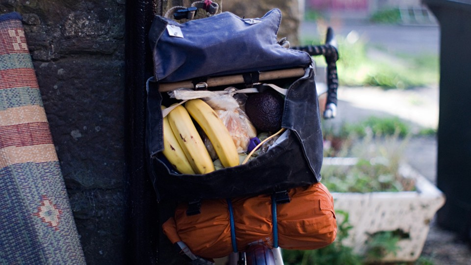 A saddle bag full of tasty snacks and a full day of riding ahead