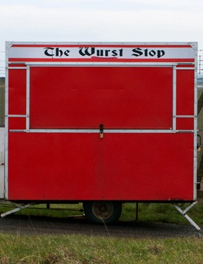 Indulge in weird local treats — this one was spotted outside of RAF Leuchars